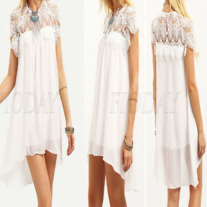Summer-Women-Chiffon-Short-Sleeve-Lace-Crochet-Cocktail-Evening-Party-Mini-Dress
