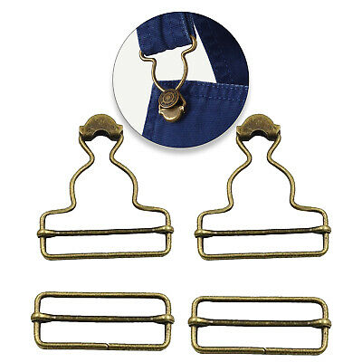 53mm x 42mm Bronze Large Metal Dungaree Buckles Slider Fasteners Clip Fashion UK