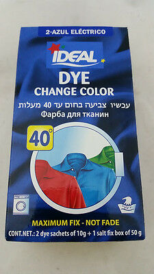 NEW IDEAL Dye Powder Purpose Fabric Color Tinte Laundry Clothing BUY 3 GET 1 FRE