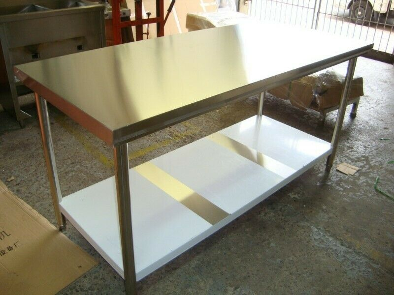 Stainless steel flat table from 1100mm to 2300mm from R2300