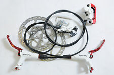 COMPLETE PROMAX CAPSULE DSK908 HYDRAULIC DISC BRAKE SET F & R WITH 160mm ROTORS