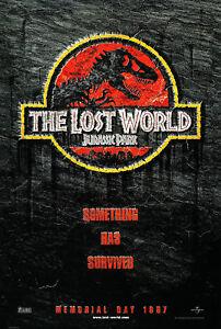 The Lost World Jurassic Park 1997 Original Advance Movie Poster Rolled Ebay