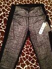 RBX Yoga Pants Leggings Black w/ Metallic Silver MSRP $88 NEW