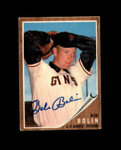 Bob-Bolin-Hand-Signed-1962-Topps-San-Francisco-Giants-Autograph