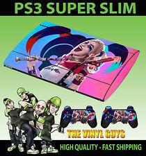 Playstation 3 Superslim Harley Quinn suicidio escuadrón 02 Pegatinas de piel y 2 pieles Pad