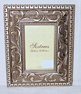 sixtrees 4 x 6 photo gold baroque frame gallery collection nwt