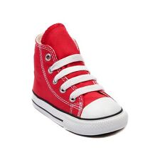 fe5d2f67073f Converse All Star Hi Chucks Infant Toddler Red Canvas Shoe 7J232  FreeShipping