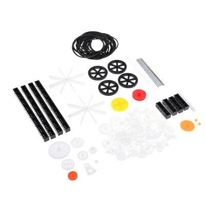 58 Pcs Plastic Gears Set Shaft Motor Gear Gearbox Robot Toy Kits DIY White Craft