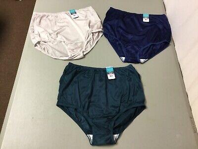 Obliging Nwt Women's 3 Vanity Fair Nylon Briefs Size 6 Multi #950l 100% High Quality Materials Panties