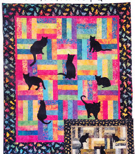 Lap-Kitties-applique-amp-pieced-quilt-PATTERN-perfect-for-cat-lovers