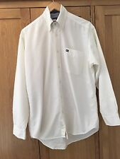 Tommy Hilfiger White Mens Long Sleeve Shirt  Cotton Size Small