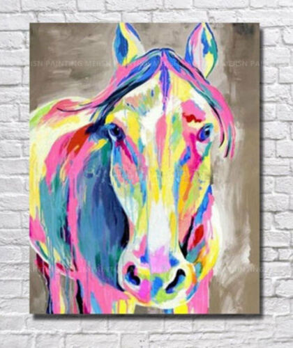 ZOPT264  abstract multi-color horse hand painted art OIL PAINTING ON CANVAS