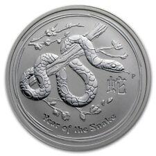 Australian Lunar Silver 1 Oz Silver Series II 2013 Snake