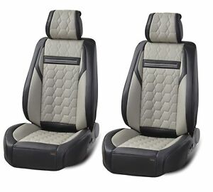 Deluxe-Grey-PU-Leather-Front-Seat-Covers-For-Mercedes-GLE-GLS-C-S-G-M-Class-AMG