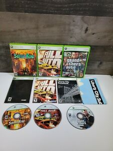 Lot-Of-3-Xbox360-Lot-Grand-Theft-Auto-IV-SAINTS-ROW-FULL-AUTO-COMPLETE-TESTED