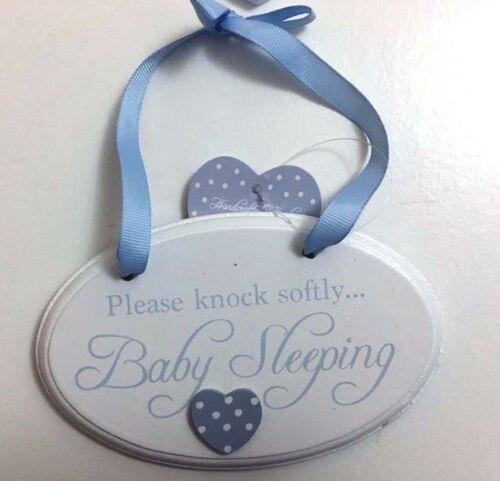 Baby Boy Girl Wooden Plaques New Born Nursery Room Decoration Signs