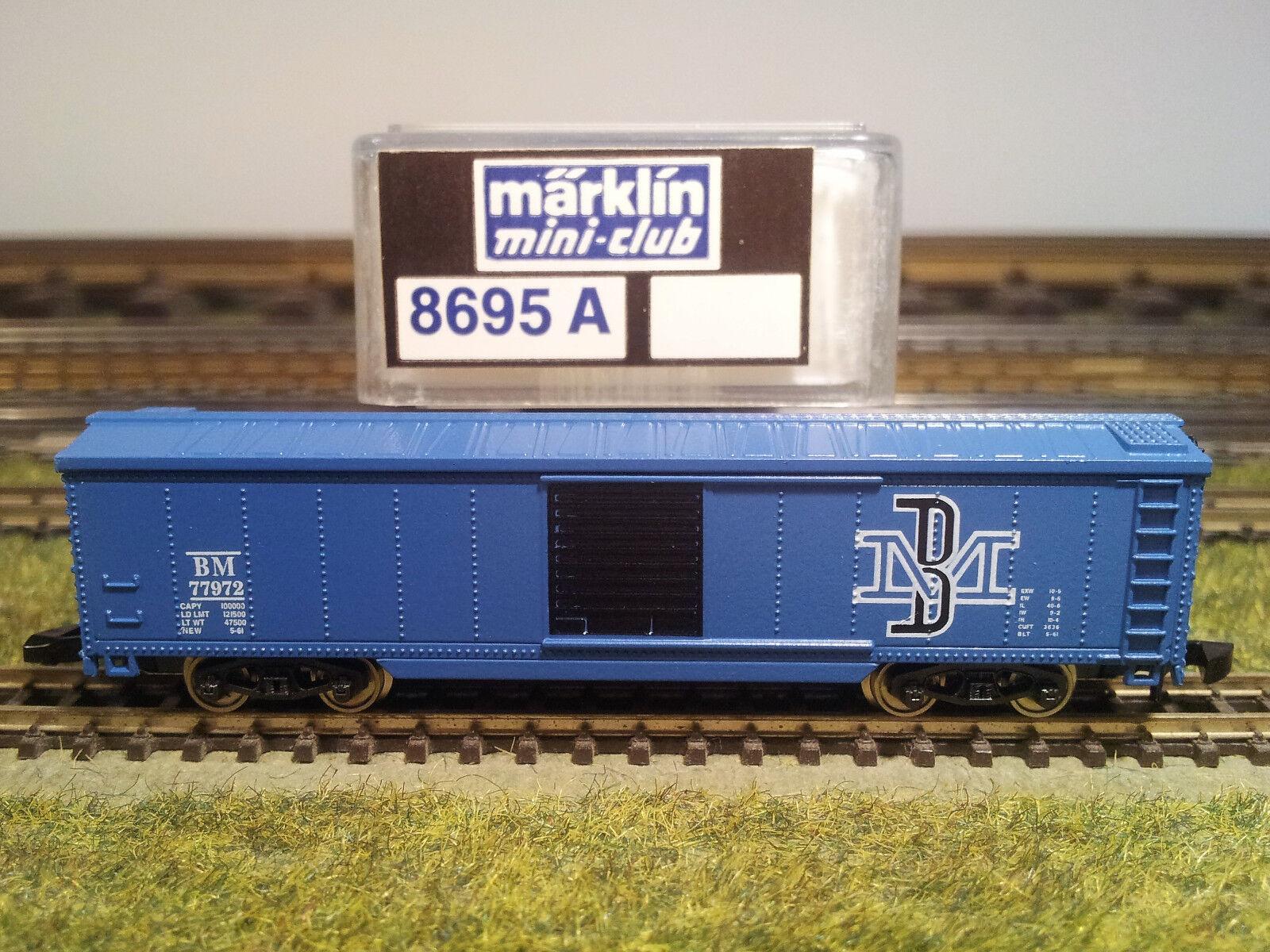 MÄ 35 Märklin Z Box-Car 8695 A  Boston & Maine , USA-Export, FABRIKNEU, OVP