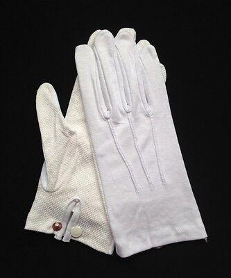 """Dozen White Cotton Gloves Snap Wrist /""""Sure Grip/"""" XL"""