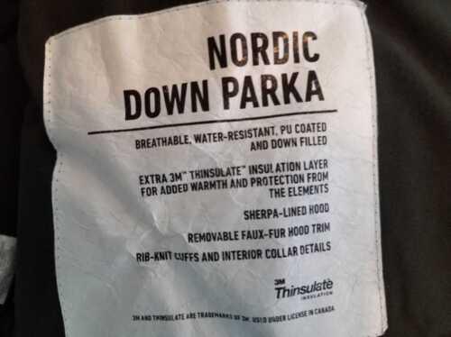 Xl J Cypress Olive Down In Parka New Mens Coat E1315 Nordic Dark Crew Hooded Xs 92EHWDYeI