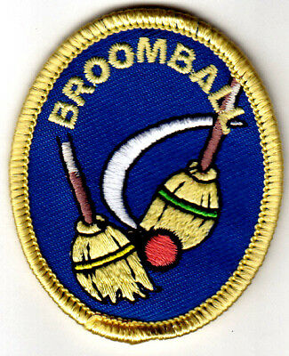 """broomball"" Iron On Embroidered Patch Sports Games Competitiion Para Aclarar La Molestia Y Calmar La Sed"