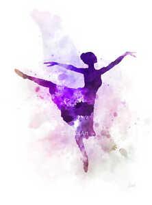 art print ballerina illustration ballet dancer wall art