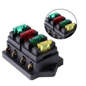 4 Way Fuse Blade Holder Box Block Car Vehicle Automotive Circuit With 4 Fuse  723044212108 | eBayeBay