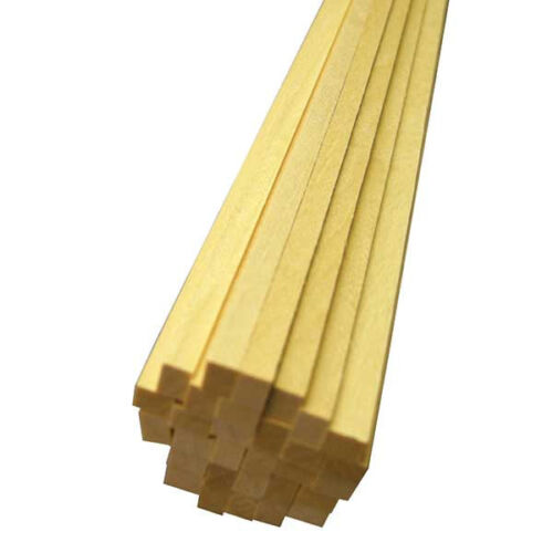 "Basswood Hardwood Strip T48 Post 1pc x 3//8/"" Thick x 3//8/"" Wide x 24/"" Long"