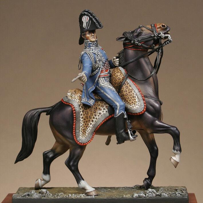 Metal Modeles Mounted Orwomennce Officer Napoleon's staff 54mm Unpainted Kit