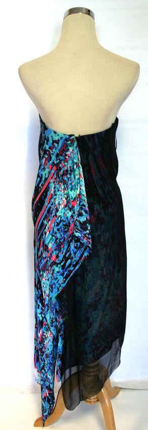 BCBG MAX AZRIA RUNWAY DTCHblueCOMBO Party Dress 8 8 8 -  378 152e63