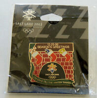 2002 WINTER OLYMPICS Salt Lake City CHRISTMAS DAY PIN on original card in cello