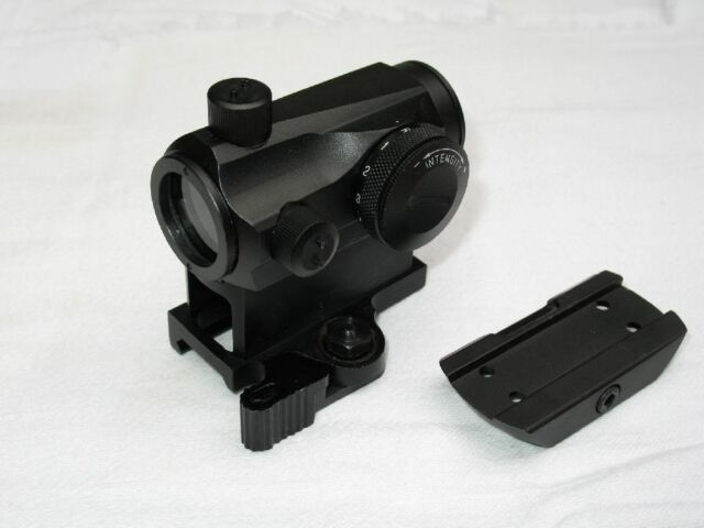 Tactical Micro T1 Style Red/Green Dot Sight with QD High Mount