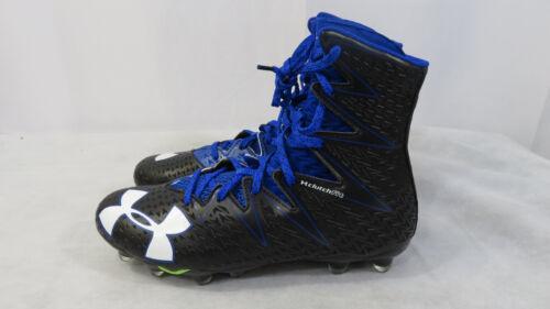 Under Armour Highlight MC Football Cleats Black Blue 1269693 041 Mens Many Sizes