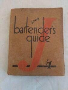 Vintage Dr. Jayne Bartender's Guide 1934 Red Jay Rare Mixology Book Bar Ephemera