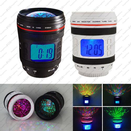 Lens Music Starry Star galaxy night light Sky Projector Alarm Clock Calendar
