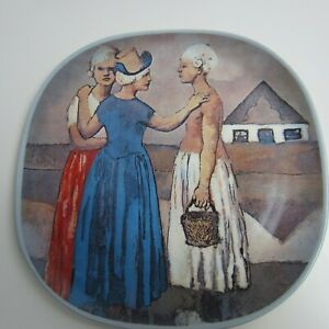 Vintage-1973-Pablo-Picasso-Three-Dutch-Women-1905-Collector-Plate-Number-2-C-68