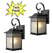 Oil Rubbed Bronze Outdoor Patio/Porch Exterior Light Fixtures-Twin Pack :21-2502
