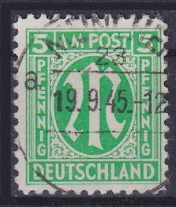 Bizone mi N. 3y Top esaminato Wehrer BPP, pulito timbrato 1945, used