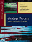 Strategy Process: Shaping the Contours of the Field by John Wiley and Sons Ltd (Hardback, 2002)