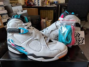 huge discount 60499 5e558 Details about Nike Air Jordan Retro VIII 8 South Beach White Turbo Green  Basketball 305381-113
