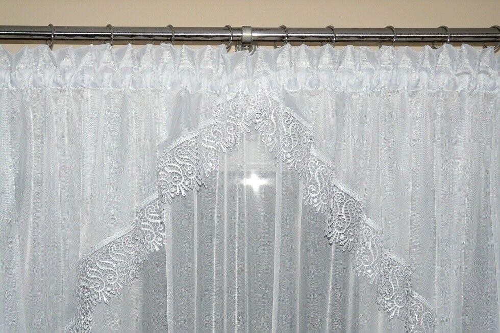 Fertiggardine aus Voile Schöne Gardine AG11 Modern Weiß Gipüre Gipüre Gipüre Fenstergardine | Ausgezeichnete Qualität  ede3e5