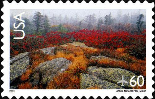 2001 60c Acadia National Park, Maine Scott C138a Mint F