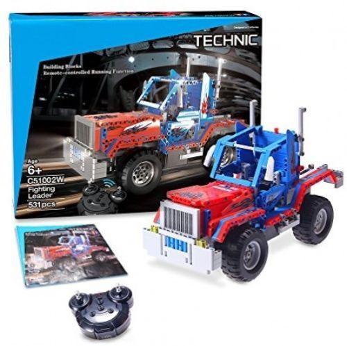 Build Rc Car >> New Geekper Electric Rc Car 531pcs Building Block Cars Remote Control Car Build