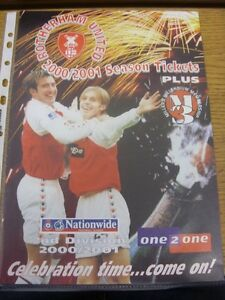2000-2001-Rotherham-United-Season-Ticket-Information-Booklet-A4-Glossy-Thank