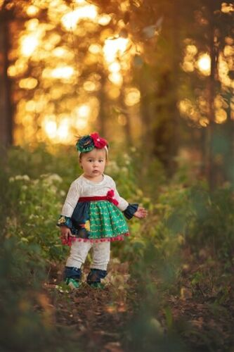 Haute Baby Swing Set Trendy Style Multicolor Infant Toddler Clothing Tunic Set
