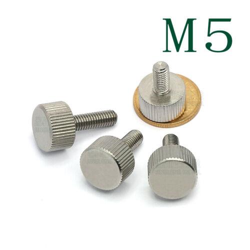 M5* 10-20mm Edelstahl 303 VA Rostfre Rändelschrauben Hand Twist Schraube Bolzen