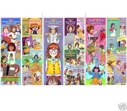 3 LOT JUNIE B. JONES BOOKMARKS Barbara Park School Kids FUN Book Marks for Books
