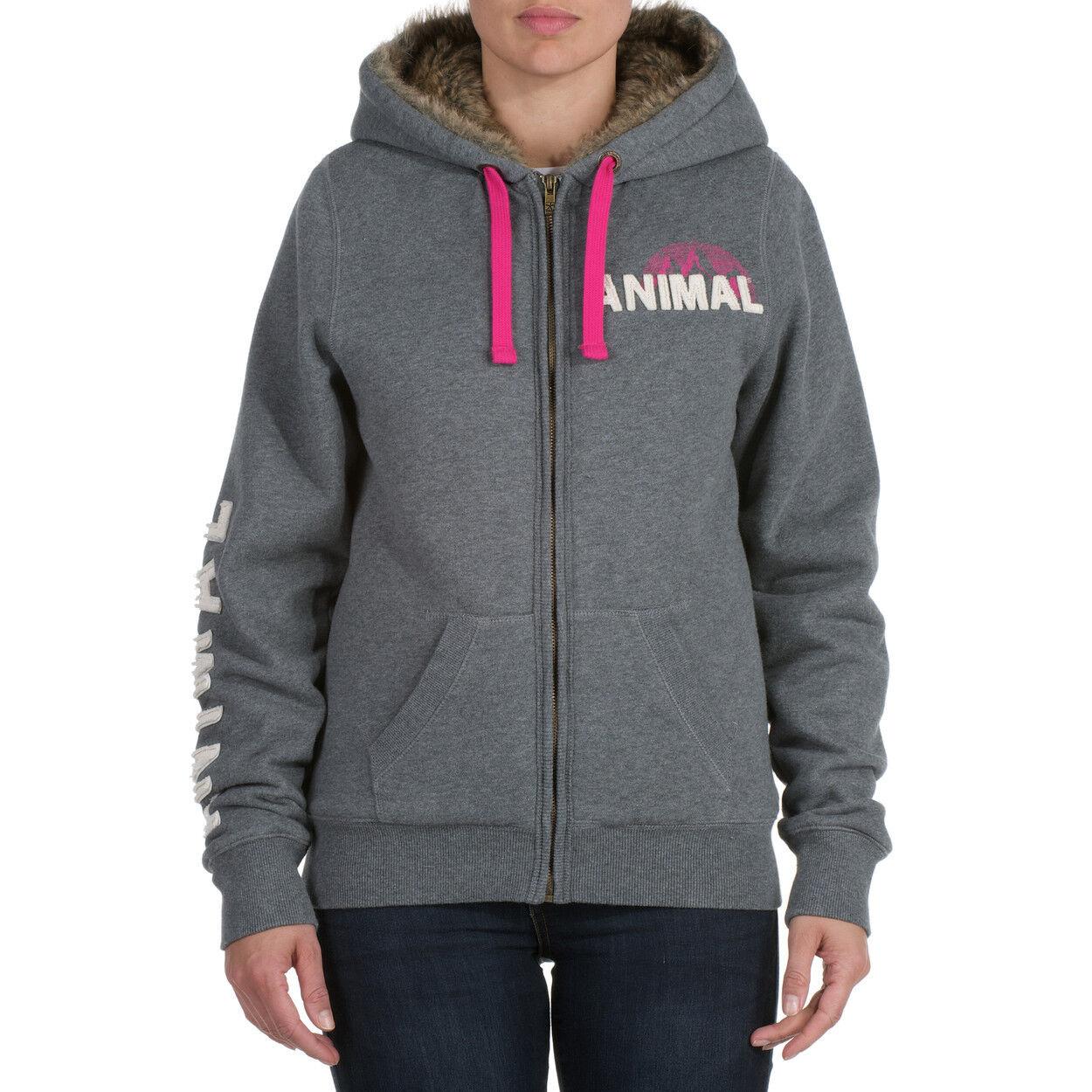 Animal Jaklyn Full Zip Hoody Charcoal CL3WC379 J41 NEW NEW NEW f1e7b9