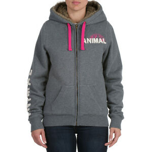 Animal-Jaklyn-Full-Zip-Women-039-s-Hoody-Charcoal-CL3WC379-J41-NEW