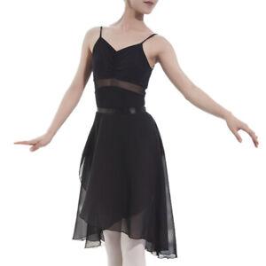 GOGO-TEAM-Adult-Sheer-Tutu-Wrap-Skirt-Long-Dress-Ballet-Dance-Dancewear-Ribbon