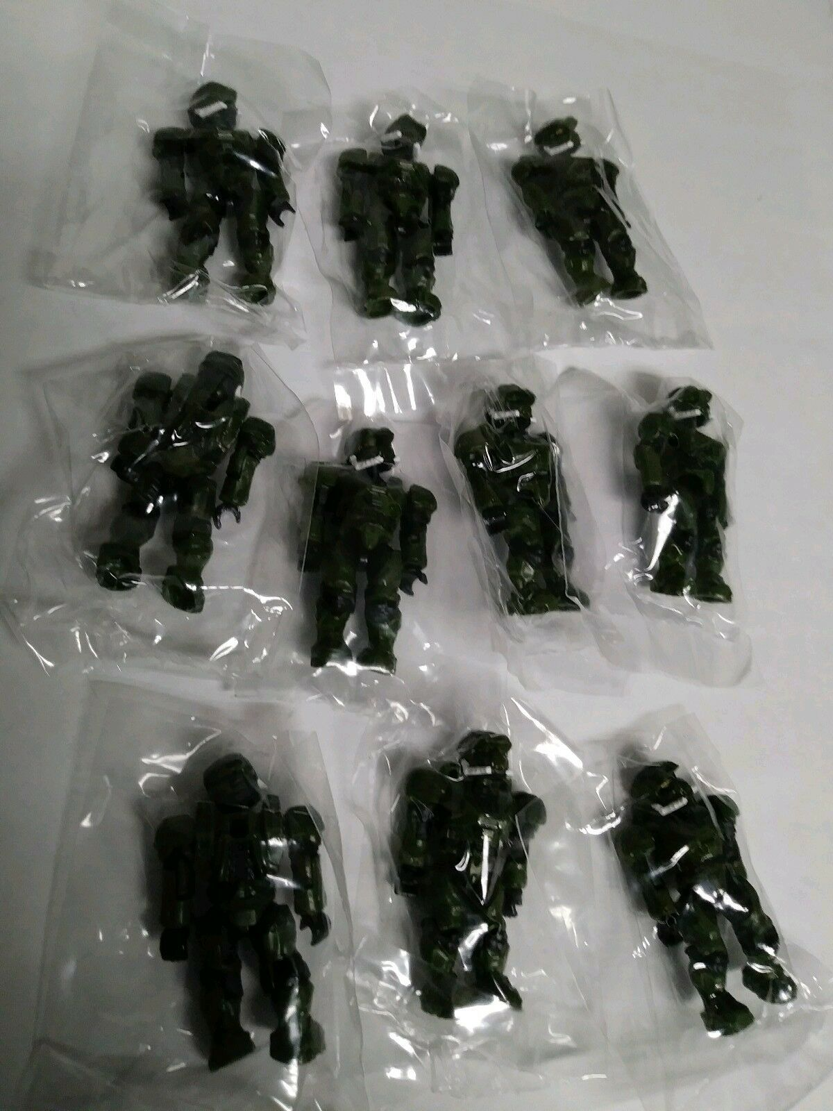 Mega Bloks Halo Green UNSC Spartan EOD Lot of 10 Mini-Figures from 97014